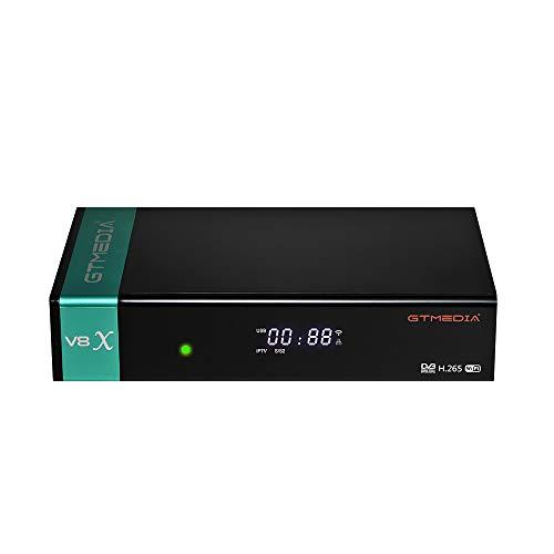 GT Media V8X TV Satellite Receiver Satellite DVB-S/S2/S2X Full HD 1080p con WiFi / Ethernet / SCART / Ci Lector de Tarjeta Decodificador Satelite