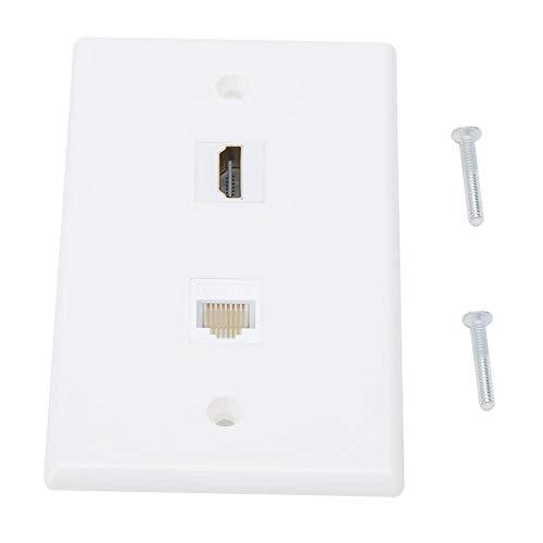 Wifehelper wandplaat - HDMI + CAT6 wandplaat interface-informatie stekkerdoos Amerikaanse standaard