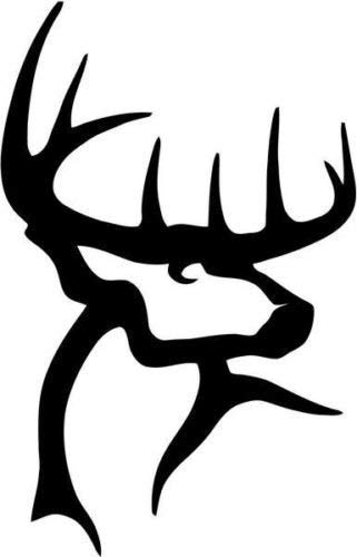ALPHA MARKETERS RW Designs - Deer Buck Antlers Hunter Hunting Sportsman Decor Any Hard Vinyl Decal Sticker for Cars LAPTOPS Walls Windows Toolbox Gift