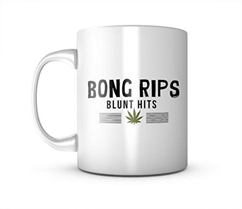 Bong Rips Blunt Hits Komisch Weed Keramik Tasse Kaffee Tee Becher Mug