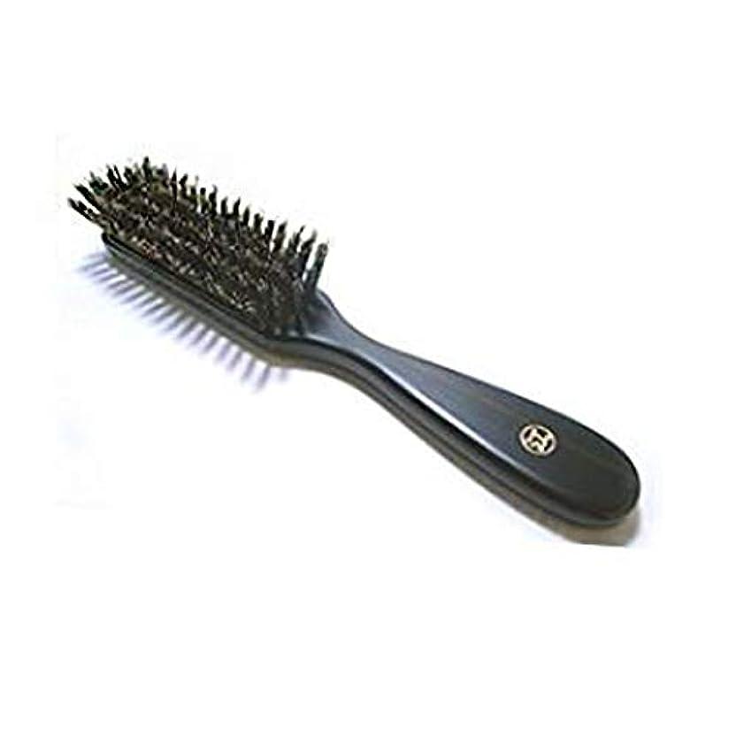 仲間、同僚くサドル創業300年江戸屋謹製 特級黒豚毛6行植えヘアブラシ 標準の髪ボリュームの方向け やや強めでほどよい頭皮刺激(頭皮マッサージ効果)