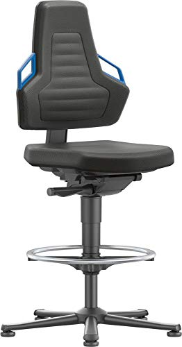 bimos Stuhl/Bürostuhl Nexxit 3 Gleiter Polster Griff blau