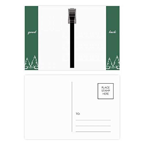 Internet Kabel schwarz Stecker Muster Glücksbringer Postkarten Set Karte Mailing Seite 20 Stück
