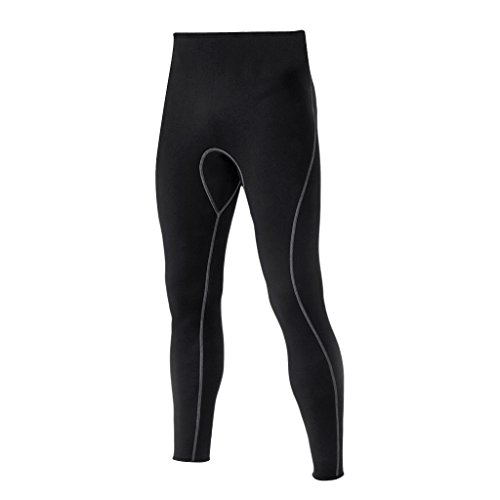 Sharplace Pantalones de Neopreno 3 mm Buceo Accesorios Mantener Caliente Color Negro para Hombre