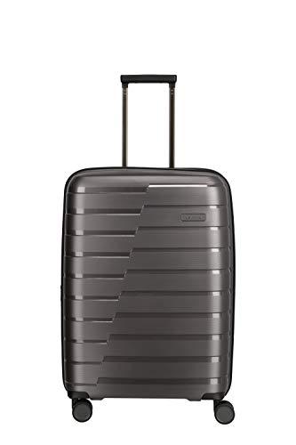 Travelite Air Base Gr. M+ inkl. kleine Kulturtasche 67cm stabile Hartschale Reisegepäck Trolley 4 Doppelrollen Trolley Erweiterbar durch Dehnfalte...