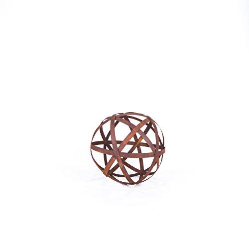 Boule de décoration rouillée en métal rouillé (30 cm)