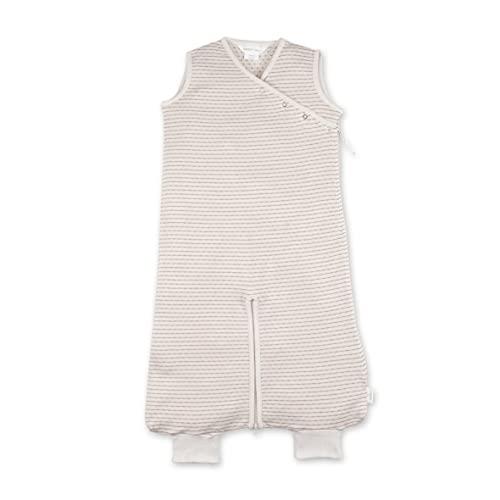 BEMINI Saco de dormir de 3 a 9 meses, 100% algodón, 1 rayas, color crudo natural