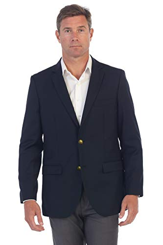 Gioberti Mens Formal Navy Blazer Jacket, Size 42 Short