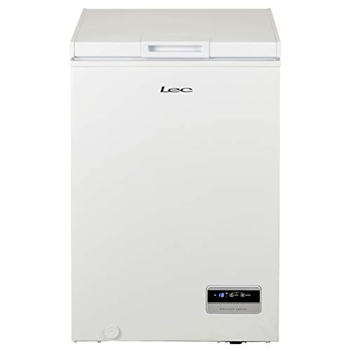 LEC CF100LW Freestanding Chest Freezer, Electronic Temperature Control, 99L Total Capacity, White