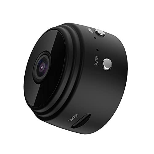 telecamera wi-fi interno mini spia Mini videocamera WiFi 1080P Videocamera Videocamera 150 ° Grandangolare IR Visione notturna Rilevazione del movimento 128 GB Memoria estesa Batteria 240 mAh per monitoraggio di animali domestici