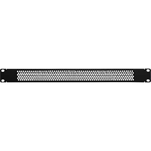 NavePoint 1U Blank Rack Mount Panel Spacer with Venting for 19-Inch Server Network Rack Enclosure Or Cabinet Black