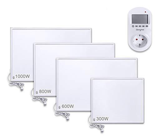 Aufun Thermostat Infrarotheizung 800W Heizpaneel Infrarot Heizung Elektroheizung mit Überhitzungsschutz für Heizt 10-16m² Raum