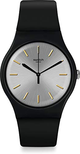 Swatch Herenhorloge analoog kwarts horloge met siliconen armband SUOB173