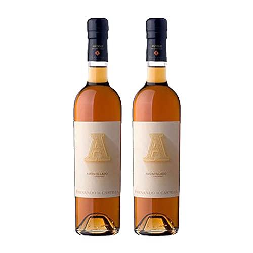 Vino Antique Amontillado de 50 cl - D.O. Jerez-Sherry - Bodegas Fernando de Castilla (Pack de 2 botellas)