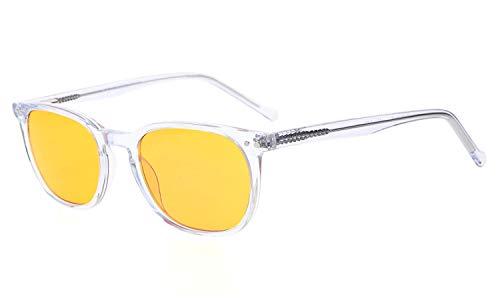 Eyekepper Computer occhiali-Montatura acetata- Occhiali da lettura migliorare sonno per viso piccolo uomini donne adolescente (Trasparente, 0.50)