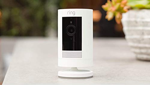 Ring Stick Up Cam Battery HD security camera with custom privacy controls,...