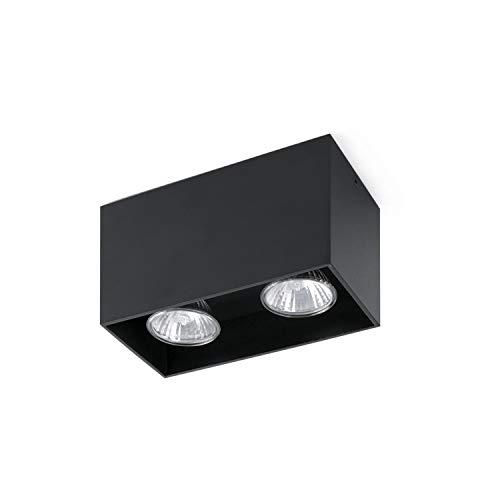 Faro Barcelona Tecto 63273 Plafonnier en aluminium Noir 50 W