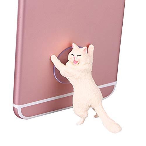 Liamostee - Soporte Universal con Ventosa para teléfono móvil, diseño de Gato
