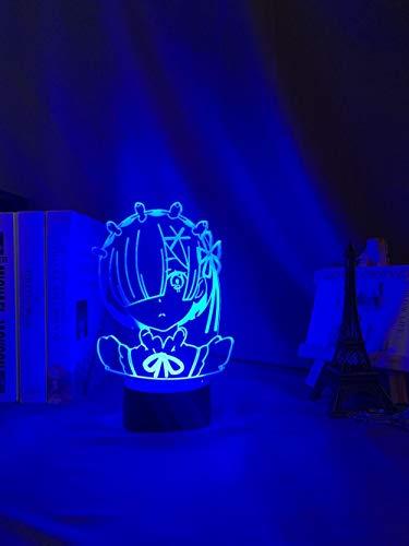 Lámpara nocturna con sensor de movimiento de animación REM RE que cambia de color, luz nocturna infantil, regalo de Navidad para dormitorio, decoración de mesa MAOJIE