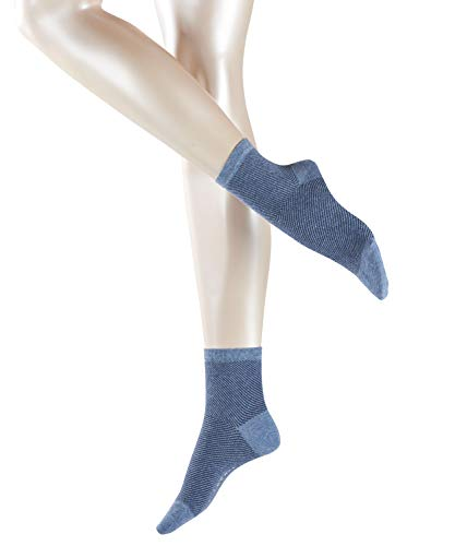 ESPRIT Damen Socken Diagonal - 80% Baumwolle, 1 Paar, Blau (Blau Melange 6667), Größe: 39-42
