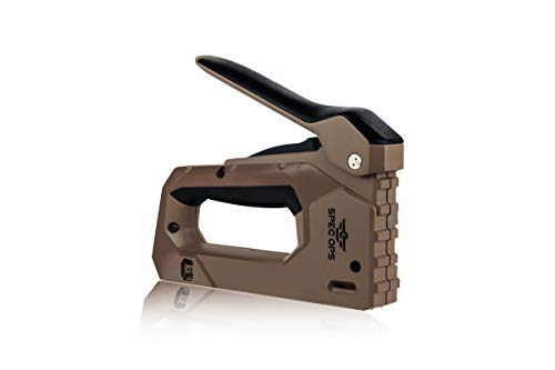Spec Ops Tools Heavy Duty Staple Gun, 1/4' - 9/16' Staples, 18-Gauge Brads, Reduced Effort, 3% Donated to Veterans