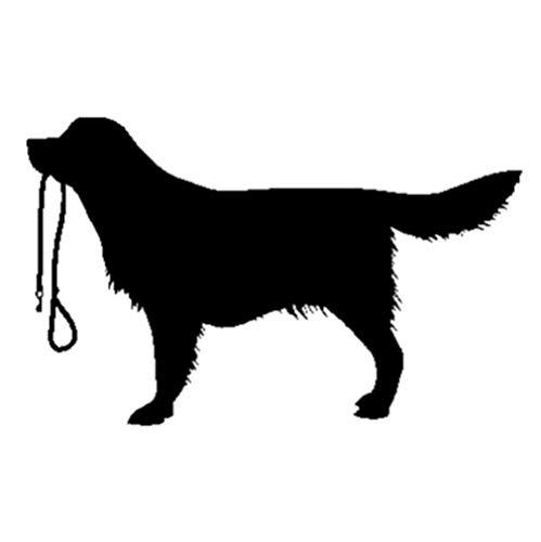GenericBrands 5 Piezas Etiqueta engomada del Coche 16 CM * 9,9 CM Perro calcomanía Vinilo Coche Stiker Negro