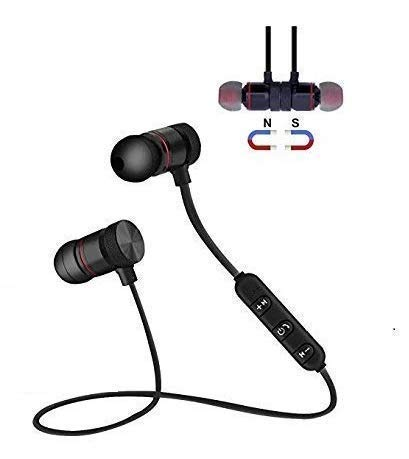 TISWAQ® Wireless Bluetooth Headphones, Headset with Mic and Sound Button Earphone for Mi Note 5/6/7 Pro, 6A, Y2, A2, A1, Y3 All Smartphones (Black)