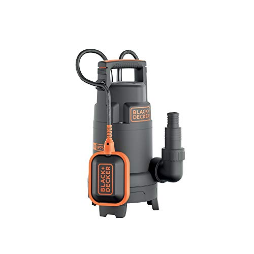 Black+Decker BXUP750PTE Pompa Immersione per Acque Chiare e Scure, Portata max. 13.000 l/h, Prevalenza max. 8 m, 750 W