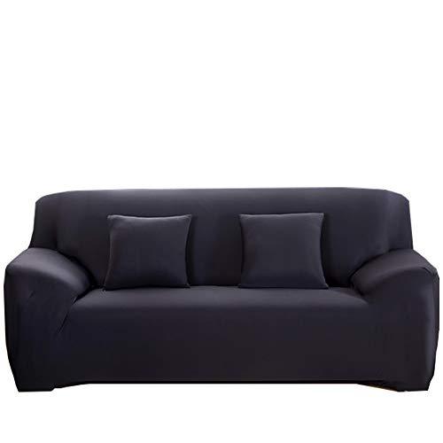 Yinnn elástica Protector de Sofá, Funda elástica elástica, con Funda de Asiento Separados Fundas, diseño Moderno, para Funda en Forma de L 4-Seat 235-300cm Black
