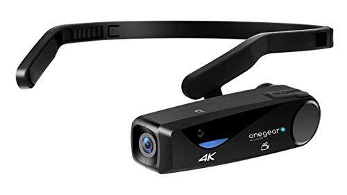 ONEGEARPRO VLOGGER CAM 4K 30 fps POV CAM STABILIZZATORE PRO CON FISSAGGO AD ARCHETTO Vlog Hands-Free POV Camcorder Videocamera indossabile per catturare & condividere ciò che vedi o realizzi, nero