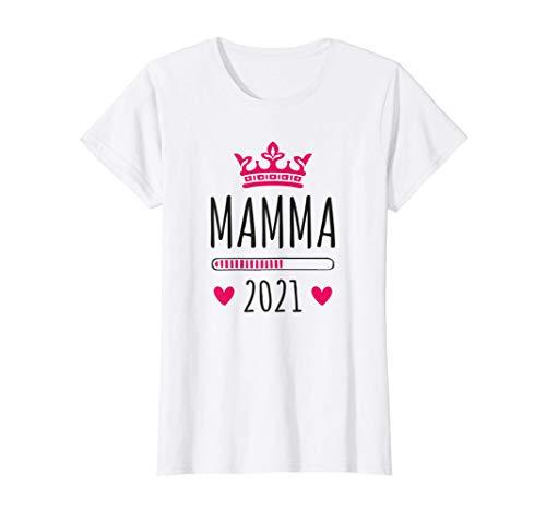 Donna Mamma 2021 Loading Neonato Incinta Gravidanza Futur Regalo Maglietta