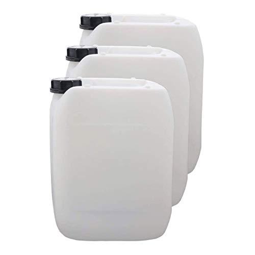 S-Pro Wasserkanister für Trinkwasser, Kanister mit Schraubverschluss, Wasserbehälter Camping, DIN 51 Einfüllöffnung, Trinkwasserkanister lebensmittelecht, 3X 10 Liter