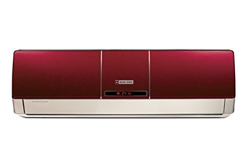 Blue Star 1 Ton 5 Star Split AC (Alluminium, BI-5HW12ZCRX, Wine Red)
