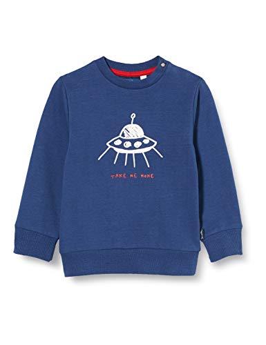 Sanetta Baby-Jungen Neptun 38108: Rotes 50072: Dunkelblaues Sweatshirt mit abgefahrenem UFO-Print Kidswear, blau, 056