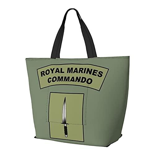 Bolso de hombro multifuncional de gran capacidad, bolso de mano Royal Marines Commando Flash ligero bolsa de viaje bolsa de playa para mujeres gimnasio senderismo picnic viaje
