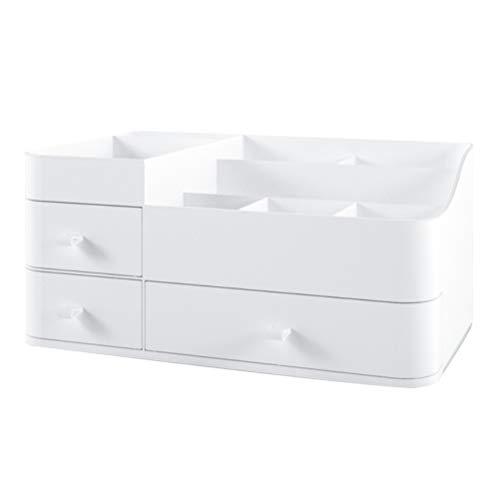 Kelisidunaec Kosmetik Organizer, Make Up Organizer mit Fächern und Schublade Schmuck Parfüm Aufbewahrungs Box Schminktische Kosmetik Regal