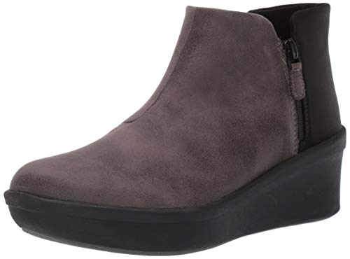 Clarks Women's Step Rose Up Ankle Boot, Grey Textile, 110 W US