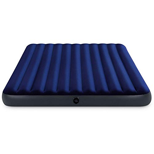 Cxry-Kit Double Air Mattress, Flocking Air Bed, Outdoor Tent Air Bed,Quick Inflation Outdoor Camping Air Mattress, Blue(183 * 203 * 22)