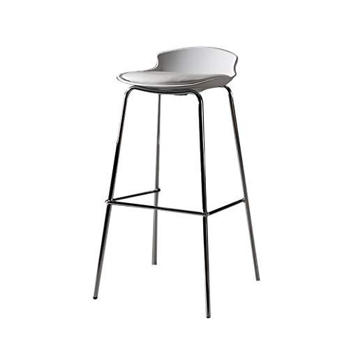 Tabouret en Fer forgé | Tabouret Haut de Cuisine | Tabouret de Bar Chaise | Chaise de Salle à Manger Moderne | Hauteur d'assise 79cm, Utiliser pour comptoir/café/pub/Restaurant