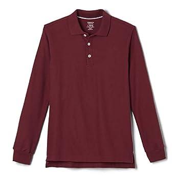 French Toast Big Boys  Long-Sleeve Pique Polo Shirt Burgundy Medium/8