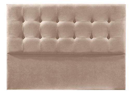 Cabecero de Cama tapizado en Tela Nido. Altura 120cm. Color Beige. para Cama de 135 (Medidas 145x120x8) Pro Elite.