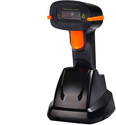 Tera Wireless Barcode Scanner USB Cradle Charging Base Handheld Bar Code Reader 1D Automatic Sensing Fast and Precise Scanner
