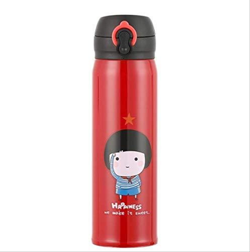 socoola Schüler Cartoon Thermos Cup 304 Edelstahl Flasche Vakuum Flasche 500ML B4