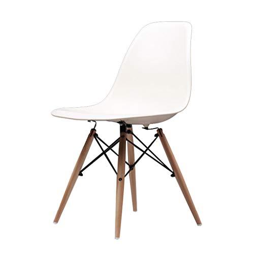 Chaise salle à manger tabouret chaise chaise Nordic wood home étudiant dossier chaise Salle à manger Chaises (Color : White-A, Size : 45 * 45 * 82CM)