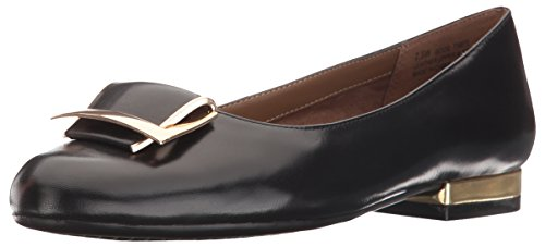 Aerosoles Women's Good Times Slip-On Loafer Black Leather 5 M US