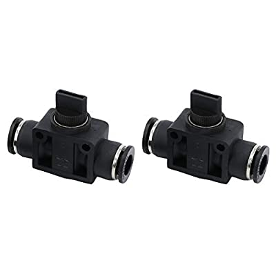 "Beduan Push to Connect Air Control Ball Valve, 3/8"" Tube OD Pneumatic Flow Control Valve Fitting Air Hand Valve Union Adapter Fitting by Beduan"