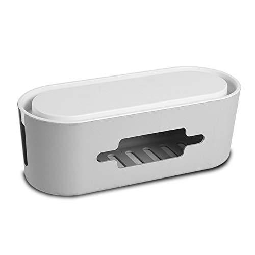 XIUQI Caja De Administración De Cables, Soporte para Teléfono Caja De Regleta De Alimentación Ocultar Cajas De Enchufe De Cables para Escritorio De Concentrador USB,A