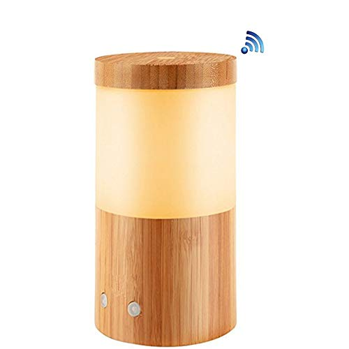Smart Wifi Aroma Diffuser Glass Electric SPA Humidificador Soporte Google Alexa con luz RGB, Regalo para mamá