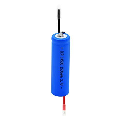 Batería recargable de iones de litio de 3,7 V y 1500 mAh, ICR 14500 con batería de repuesto para linterna de 2 hilos, 8 unidades