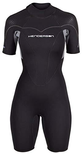 Women's Thermoprene Pro Wetsuit 3mm Back Zip Shorty Black